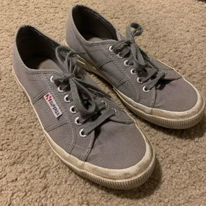 Grey superga cotu sneakers